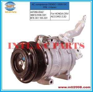 HONDA CRV ACCORD A/C Compressor   DENSO 10SR15C  447260-6342