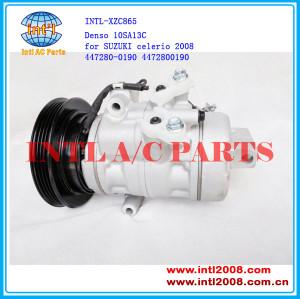 10SA13C denso 4PK 447280-0190 4472800190 a/c air compressor for SUZUKI celerio 2008 China factory new compressor