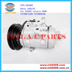 10SA13C denso 4PK 447280-0190 4472800190 a/c air compressor for SUZUKI celerio 2008 China factory new compressor