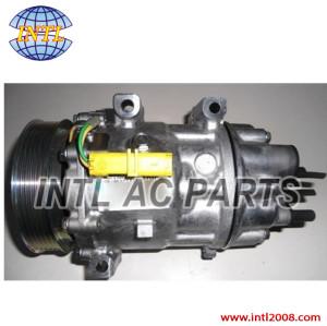 9686061980 6453TA 9659749480 Car ac compressor for Fiat scudo Citroen C8 Jumpy Peugeot Expert Sanden sd7V16