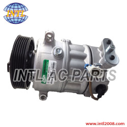 9659875780 6453QJ 6453QK 6453WK 6453WL 96519109 96598757 SANDEN 6C12 SD6C12-6PK-120mm auto ac compressor Peugeot 207 307 408 Citroen C2 C4