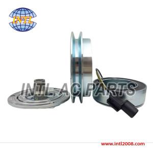 Valeo DKS15D DKS-15D air con ac compressor magnetic clutch assembly 1pk pulley Mitsubishi Triton Strada L200 MN123626