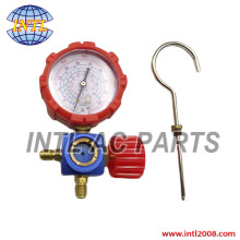 High Pressure Manifold Gauge R134a R404a R22 R410a Manometer with Valve A/C Air Conditioning