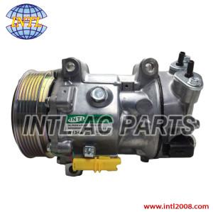 Sanden 1309 1321 SD7C16 auto ac compressor for Peugeot 307/Citroen C4/Fiat/Lancia 9651911480 9671216780 1608473380 6453QN 6453QL China factory