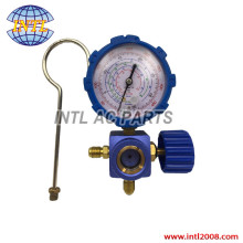 LOW Pressure Manifold Gauge R134a R404a R22 R410a Manometer with Valve A/C Air Conditioning