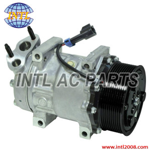 New CO 4347C Auto A/C Compressor Fits International Navistar Sanden 4347 3808548-C2 3808548-C3 3611894C91 3808548C2 BLOCK MAXFOOC 12V