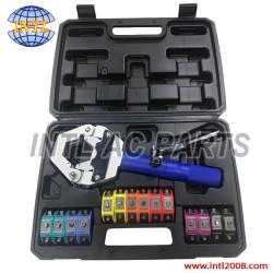 Universal Auto AC Hydraulic Hose Crimper kit Crimping tool 71500- 001A 71500-001B 71500-001C