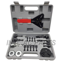 23pc AC COMPRESSOR CLUTCH HUB INSTALLER REMOVER/Removal KIT PULLER PLATES TOOLS
