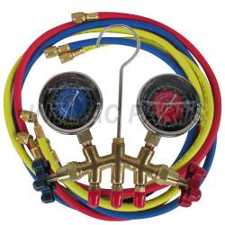 High quality C3771BD copper body R22 R12 R134a manifold gauge set with 60inch hose