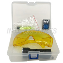 Auto ac Parts Tool Kit Fluorescent  Lamp Flashlight with Fluorescent Glasses kit Water/Corrosion/Shock Resistant