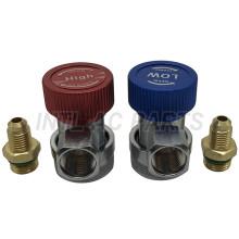 Hvac tool Quick Coupler Connector M12x1.5&1/4SAE Refrigent R134a good quality