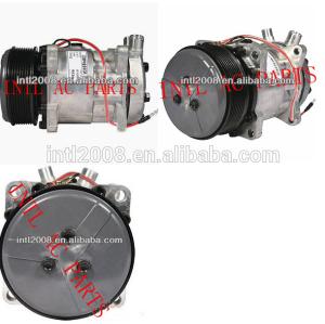 Para a ford sanden 8100 um/compressor c w/de embreagem para trator mxm120 82008689 9847944