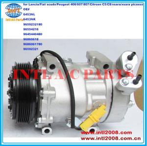 China supply 6453NL 6453YJ 9659232180 9645440480 9686061780 7V16 ac compressor for  Peugeot 406/607/807/Citroen C5/C8/xsara