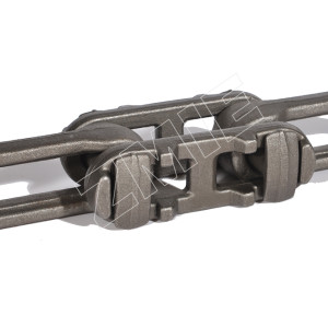 6 inch drop forged rivetless chain for blasting and painting