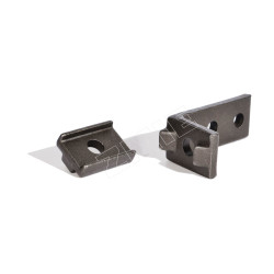 Angle plate for X348 and X458 forged rivetless chain