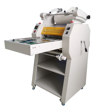490mm roll to roll laminating machine, foil transfer function can be choose roll laminator DS-490