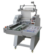 Semi-Automatic film roll laminating machine with automatic overlap & Pneumatic cutting PL-500YA