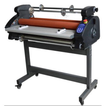 Double sides roll laminator with LED display hot laminator cold laminating machine  DS-880