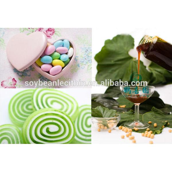 Grado de alimentación líquido colores primarios GMO de soja lecitina