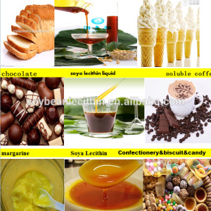 Emusifier liquid soya lecithin for confectionery (food additive)