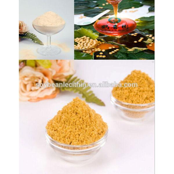 Verde a granel de alimentación suplemento alimenticio lecitina de polvo de aceite manufactuerer