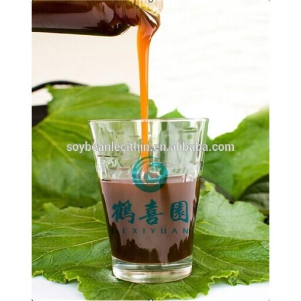 Enriquecido y concentrado líquido lecitina de soja con el mejor precio para el cuero