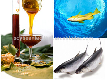 Modified soya lecithin for aquaculture species feeds