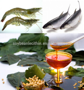 Soya lecithin for crustaceans and fish
