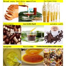 Líquido emusifier lecitina de soja para productos de confitería( aditivo alimentario)