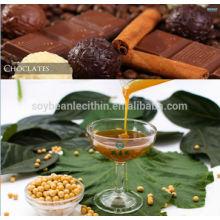 Lecitina de aditivos alimentarios en chocolate