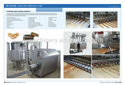 Full automatic layer cake and swiss roll plant