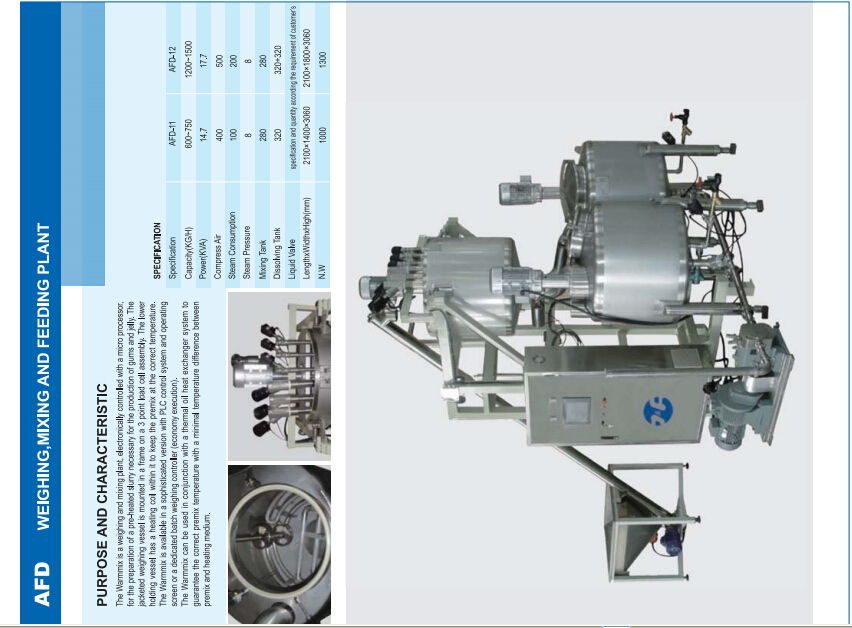 Automatic weighing and dissovling system)