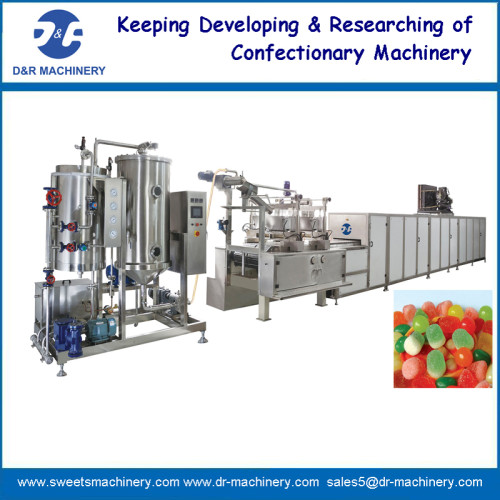 Jelly candy depositing machine