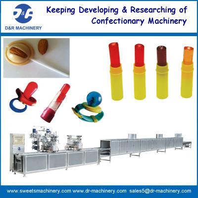 Toy lollipop depositing machine