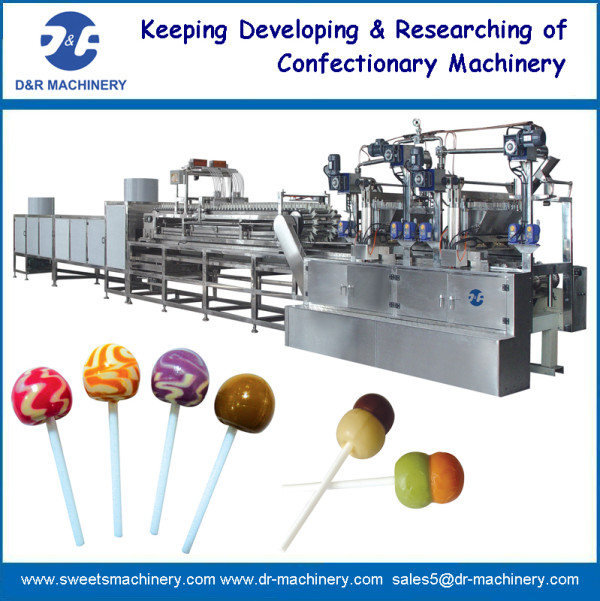 Lollipop depositing machine