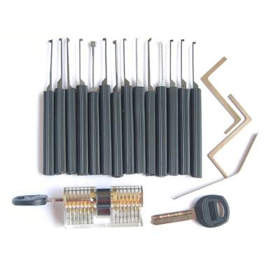 high quality Transparent/Clear Cutaway Practice Padlock Lock Training Skill Pick for Locksmith