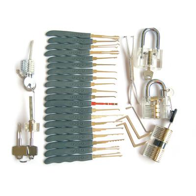 high quality transparent practice lock with goso locksmith tools lock picks set