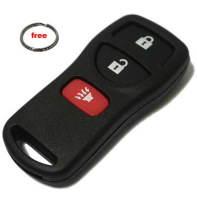 Wholesale car key shell 3 button nissan key shell made in china