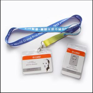 Custom logo lanyard with PVC card holder