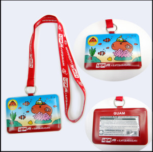 PVC card holder lanyards for children's  promotional gift