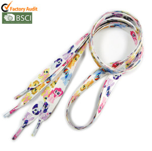 Fashion colorful polyester sport  shoelces