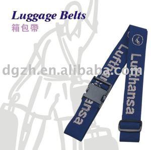Gepäckgurt mit gesponnenem Firmenzeichen