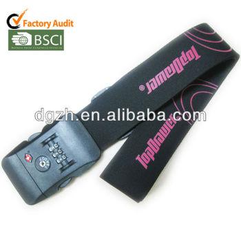 Polyester-Gepäckbügel mit Verschluss, Verschlussgepäckbügel mit Druckenfirmenzeichen