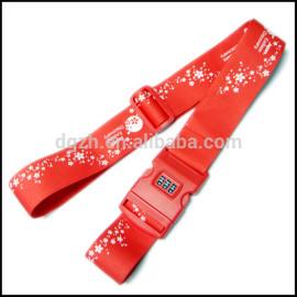 moda poliestere cinghie dei bagagli con serratura