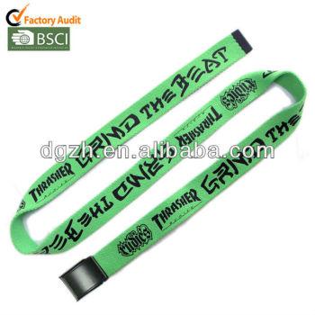 De tela de poliéster impresión de la insignia cinturones