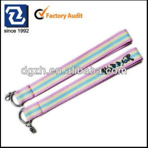 Tri-color Polyester-Schlüsselhalter, Druckenfirmenzeichen keychain