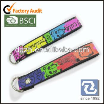Polyesterband für schlüsselanhänger, farbe drucken polyester riemen für schlüsselanhänger