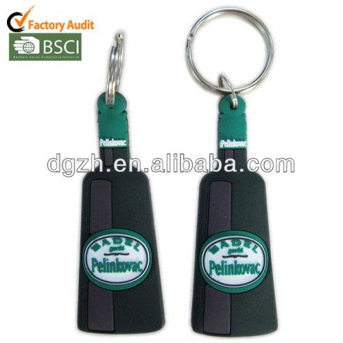 Silikon schlüsselanhänger für promotion geschenke, mode schlüsselanhänger aus silikon