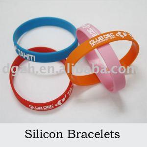 Wristband-/Silikonarmband, rundes Silikonarmband