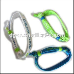 Gewebe wrisbands, arbeiten preiswertes Polyester-Armband um